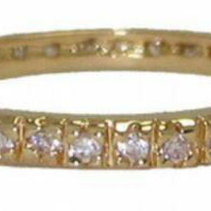 stack eternity band yellow or white gold infinity